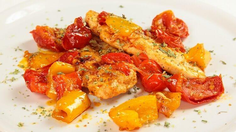 pollo e peperoni light