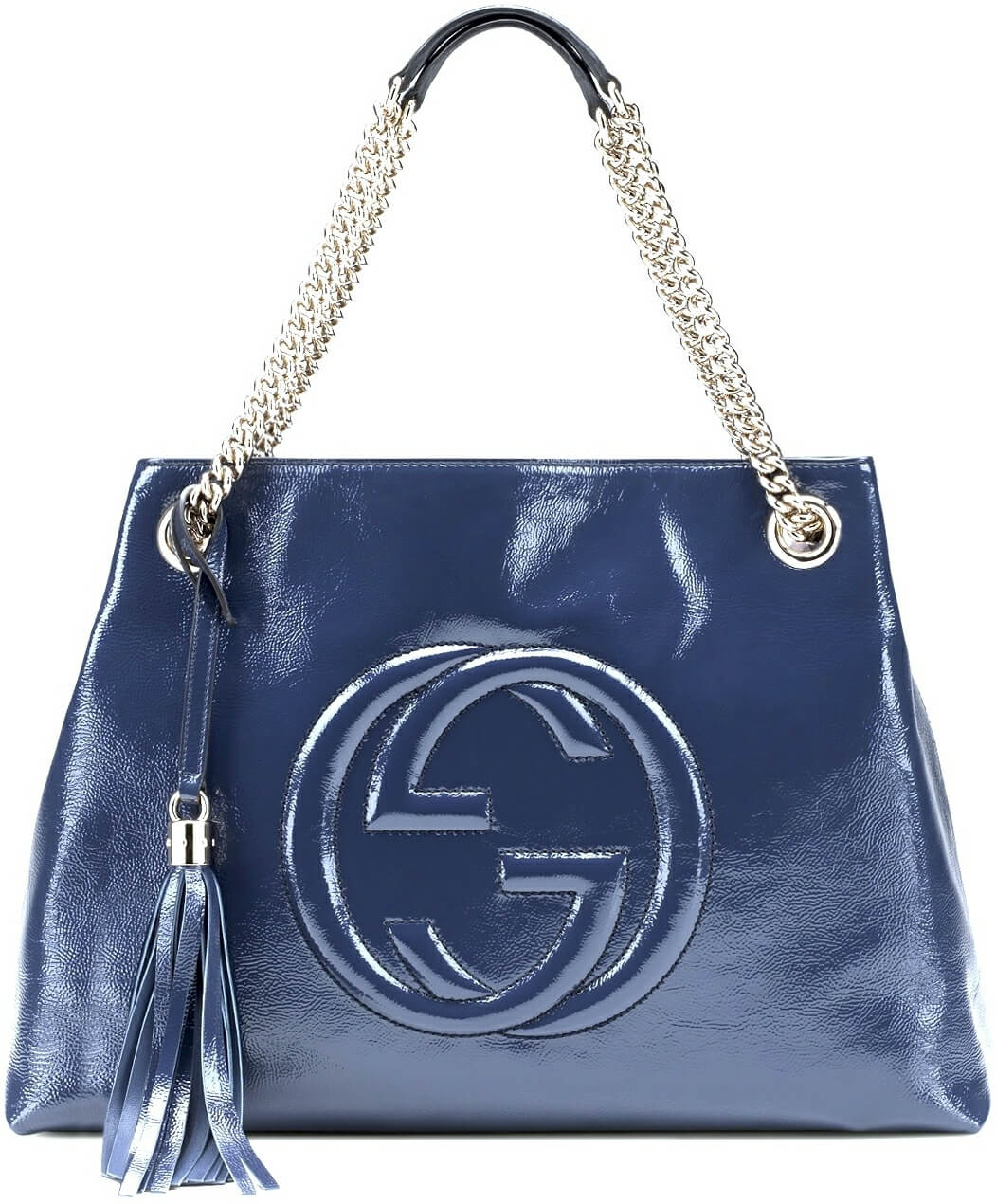 Wishlist di Natale: Gucci Soho Bag in pelle e vernice blu notte