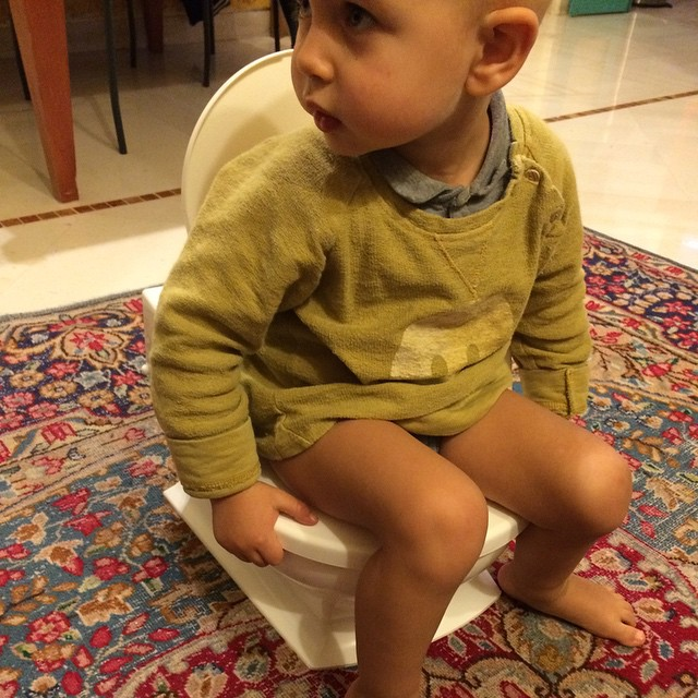 Si è fissato che deve fare la pipì nel suo vasino personale...peccato abbia body e pannolino incorporato #mylife #love #baby #kids #thewomoms @instamamme