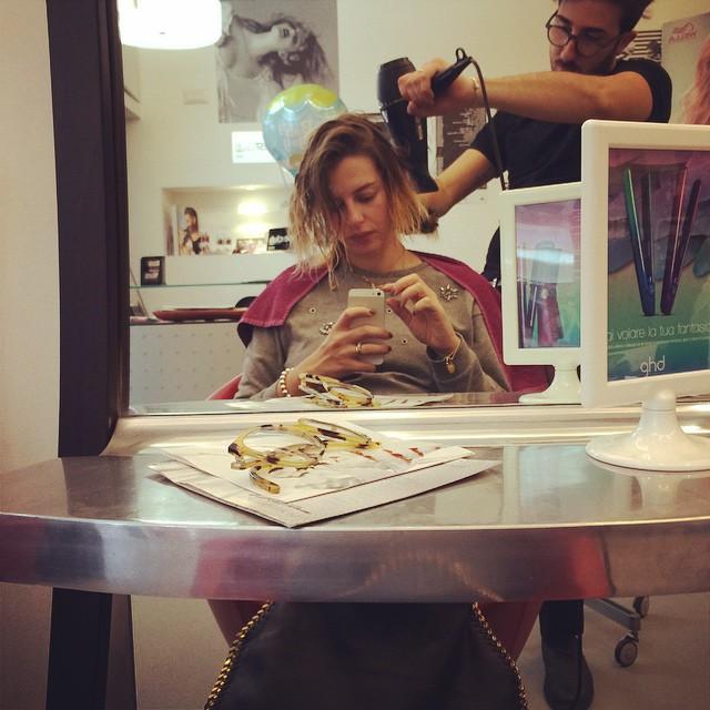 Momento relax @pinoesalvo #hair #wella #coiffeur #igersbari