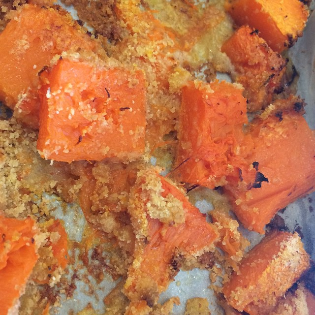#zucca al #pangrattato e parmigiano #halloween #gnambox #healty #food