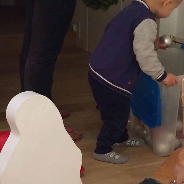 Piccolo aiutante di Babbo Natale #happy #love #natale #newhome #newlife #baby
