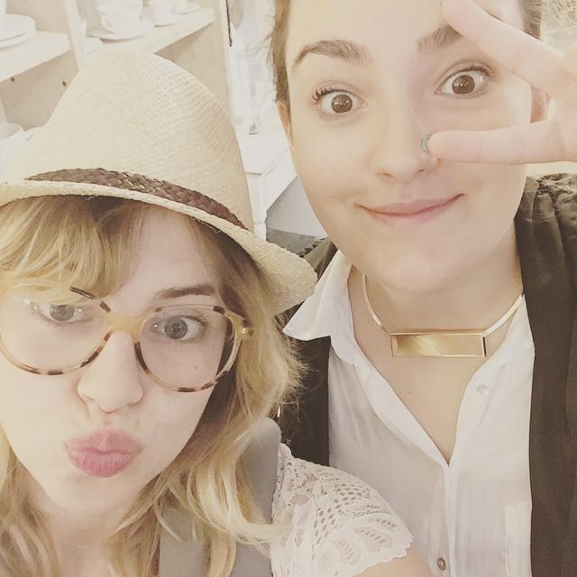 Io @alessiarux e Carlotta che non si vede #bloggerday #officinamaison @officinamaison