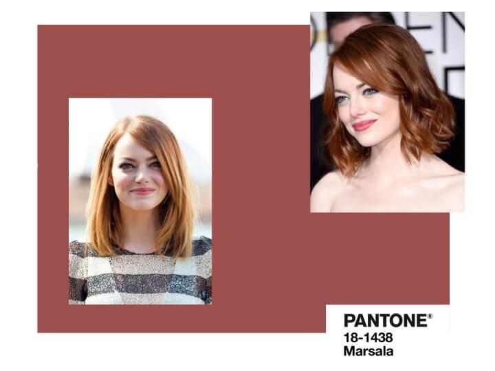 red hair Pantone