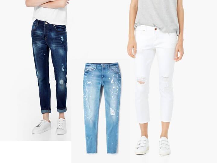 Jeans strappi Mango