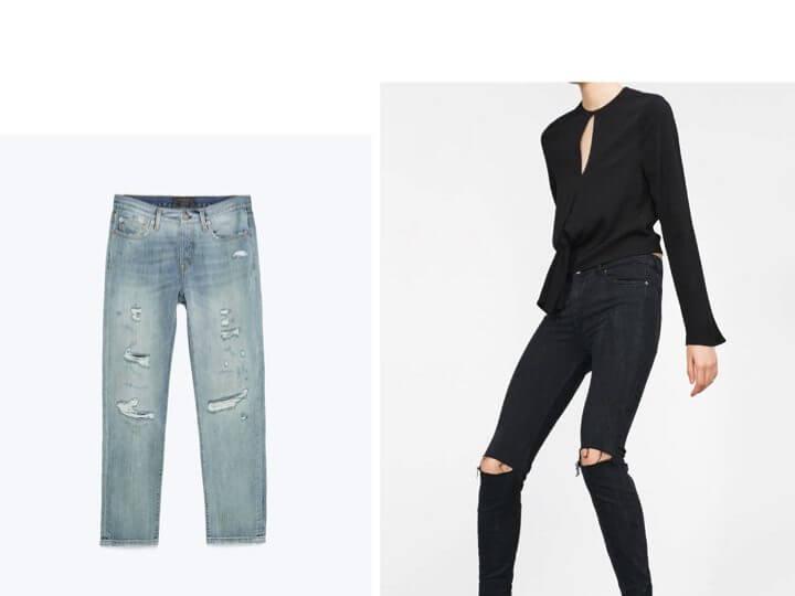 Jeans strappi Zara