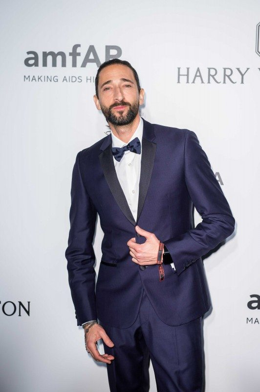 HONG KONG - MARCH 19: Adrien Brody attends the 2016 amfAR Hong Kong gala with a guest at Shaw Studios on March 19, 2016 in Hong Kong, Hong Kong. (Photo by Xaume Olleros/Getty Images for amfAR)