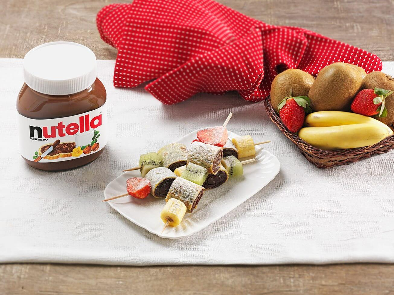 Nutella Ingredienti – Spiedini di Crepes con Nutella