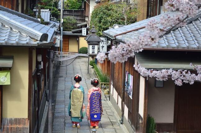 Antica strada a Kyoto
