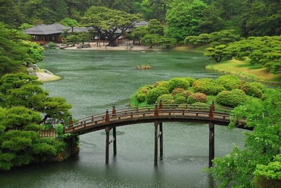 Giardino Ritsurin a Takamatsu, Shikoku