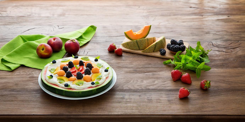 Galbani_Fruitpizza al cocomero con frutta estiva