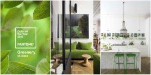 home pantone greenery