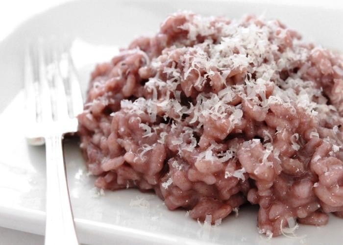 risotto radicchio e pancetta