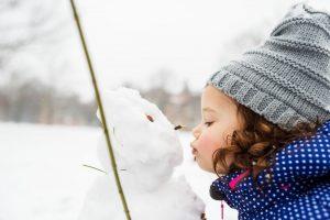 bambini in inverno